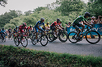 Peter Sagan (SVK/Bora-Hansgrohe), Sonny Colbrelli (ITA/Bahrain-Merida), Philippe Gilbert (BEL/Quick Step floors) & many top riders behind him just 700 meters from the finish<br /> <br /> Stage 5: Lorient > Quimper (203km)<br /> <br /> 105th Tour de France 2018<br /> ©kramon