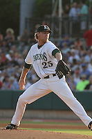 Lexington Legends pitcher Michael Foltynewicz #25 on the mound for the Northern division team in the South Atlantic League All-Star game held at the Joseph P. Riley Jr.Ballpark in Charleston, South Carolina on June 19th, 2012. The Northern division defeated the Southern division by the score of 3-2. (Robert Gurganus/Four Seam Images)