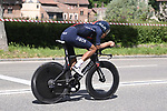 Egan Bernal (COL) Ineos Grenadiers recces the route during Stage 1 of the 2021 Giro d'Italia, and individual time trial running 8.6km around Turin, Italy. 8th May 2021.  <br /> Picture: LaPresse/Fabio Ferrari   Cyclefile<br /> <br /> All photos usage must carry mandatory copyright credit (© Cyclefile   LaPresse/Fabio Ferrari)