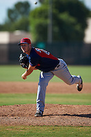 Cleveland Indians pitcher Billy Strode (47) during an instructional league game against the Milwaukee Brewers on October 8, 2015 at the Maryvale Baseball Complex in Maryvale, Arizona.  (Mike Janes/Four Seam Images)