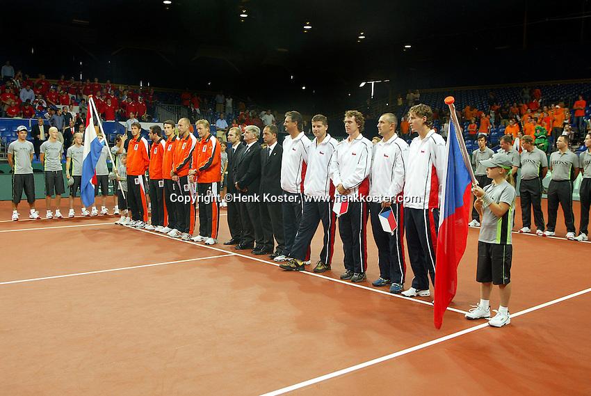 22-9-06,Leiden, Daviscup Netherlands-Tsjech Republic, Official opening ceremony