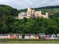Burg Stolzenfels am Rhein, Rheinland-Pfalz, Deutschland, Europa, UNESCO Weltkulturerbe<br /> Castle Stolzenfels at river Rhine, Rhineland-Palatinate, Germany, Europe