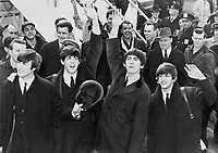 The Beatles in a wax museum<br /> <br /> 1964