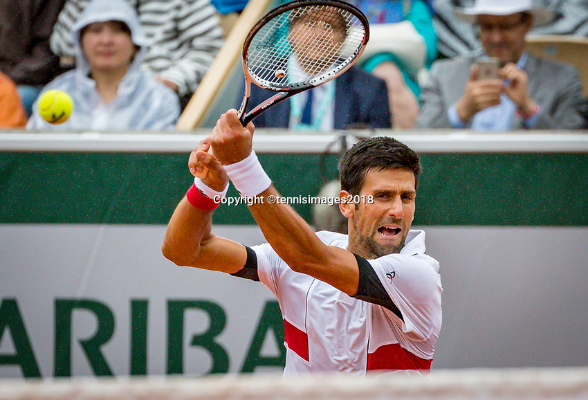 Paris, France, 01 June, 2018, Tennis, French Open, Roland Garros, Novak Djokovic (SRB)<br /> Photo: Henk Koster/tennisimages.com