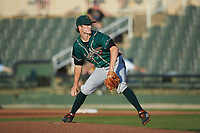 Greensboro Grasshoppers starting pitcher Steven Jennings (41) in action against the Rapidos de Kannapolis at Kannapolis Intimidators Stadium on June 14, 2019 in Kannapolis, North Carolina. The Grasshoppers defeated the Rapidos de Kannapolis 4-1. (Brian Westerholt/Four Seam Images)