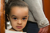 MR / Schenectady, NY. Portrait of young child (girl, 3, African American and Caucasian). MR: Dal5. ID: AM-HD. © Ellen B. Senisi