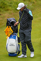 170719 | The 148th Open - Wednesday Practice<br /> <br /> Tommy Fleetwood of England  on the 18th during practice for the 148th Open Championship at Royal Portrush Golf Club, County Antrim, Northern Ireland. Photo by John Dickson - DICKSONDIGITAL