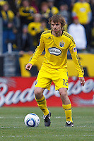 8 MAY 2010:  Eddie Gaven of the Columbus Crew (12) during MLS soccer game between New England Revolution vs Columbus Crew at Crew Stadium in Columbus, Ohio on May 8, 2010.