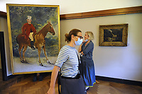 - Milano, maggio 2020, riapertura dei musei civici con tutte le misure di sicurezza dopo due mesi di blocco per l'epidemia di Coronavirus; GAM, Galleria di Arte Moderna; quadro del pittore francese Edouard Manet<br /> <br /> - Milan, may 2020, reopening of civic museums with all security measures after two months of lockdown for the Coronavirus epidemic; GAM, Gallery of Modern Art; painting by the French painter Eduard Manet