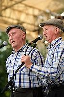 Les deux derniers freres MORVAN, Yvon et Henri, icones du chant kan an diskan et pratiquants de la langue bretonne de toujours