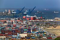 aerial photograph of the Manzanillo International Terminal at the Colon Container Port, at the Atlantic entrance to the Panama Canal, Panama | fotografía aérea de la Terminal Internacional de Manzanillo en el Puerto de Contenedores de Colón