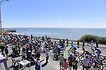 The peloton at the seaside during Stage 10 of Tour de France 2020, running 168.5km from Ile d'Oléron to Ile de Ré, France. 8th September 2020.<br /> Picture: Bora-Hansgrohe/BettiniPhoto | Cyclefile<br /> All photos usage must carry mandatory copyright credit (© Cyclefile | Bora-Hansgrohe/BettiniPhoto)