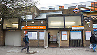 The White Hart Lane overground station near to Tottenham Hotspur Stadium in White Hart Lane, London, England on 19 March 2019. Photo by Andy Rowland.