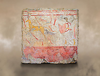 Lucanian fresco tomb painting of a man hunting a deer . Paestrum, Andriuolo. Tomb n. 18.  ( 370-360 BC )