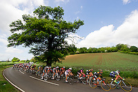 Picture by Alex Broadway/SWpix.com - 10/05/2014 - Cycling - The Friends Life Women's Tour 2014 - Stage 4: Cheshunt to Welwyn Garden City - The Peloton makes it's way through the Hertfordshire countryside.