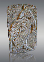 9th century BC stone Neo-Hittite/ Aramaean Orthostats from Palace Temple of the Aramaean city of Tell Halaf in northeastern Syria close to the Turkish border. The Orthostats are in a Neo Hittite style and depict mythical animals and figures that have magical properties. Pergamon Museum, Berlin OP VAS 8854,
