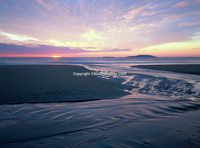 Dawn at Popham Beach State Park, Phippsburg, Maine, USA