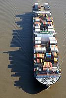 Containerschiff MSC Maria Saveria: EUROPA, DEUTSCHLAND, HAMBURG, (EUROPE, GERMANY), 31.08.2016: Containerschiff MSC Maria Saveria auf der Elbe