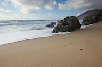 A beach on the north end of the big sur coast in Monterey