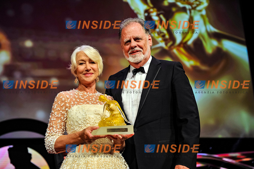 Dame Helen Mirren et son mari Monaco - 20/06/2017<br /> 57 festival TV Monte Carlo <br /> Foto Norbert Scanella / Panoramic / Insidefoto