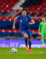 Harry Maguire (Manchester United) of England during the UEFA Nations League match played behind closed doors due to the current government Covid-19 rules within sports venues between England and Denmark at Wembley Stadium, London, England on 14 October 2020. Photo by Andy Rowland.