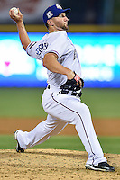 Round Rock Express relief pitcher Ryan Feierabend (37) throws a pitch during pacific coast league baseball game, Friday August 14, 2014 in Round Rock, Tex. Reno defeated Round Rock 6-1 to go two up in best of three series. (Mo Khursheed/TFV Media via AP Images)