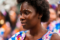 An Afro-Colombian dancer of the Roma neighborhood takes part in the San Pacho festival in Quibdó, Colombia, 28 September 2019. Every year at the turn of September and October, the capital of the Pacific region of Chocó holds the celebrations in honor of Saint Francis of Assisi (locally named as San Pacho), recognized as Intangible Cultural Heritage by UNESCO. Each day carnival groups, wearing bright colorful costumes and representing each neighborhood, dance throughout the city, supported by brass bands playing live music. The festival culminates in a traditional boat ride on the Atrato River, followed by massive religious processions, which accent the pillars of Afro-Colombian's identity – the Catholic devotion grown from African roots.