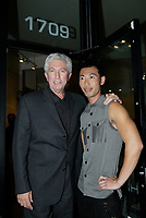 Montreal (QC) CANADA, October 3rd 2007 -<br /> Gilles Duceppe, leader of the Bloc Quebecois (L) at the<br /> Launch of Montreal Designer Dinh Ba, at his boutique on Amherst street in Montreal.<br /> <br /> <br /> photo : (c) ®Pierre Roussel -  images Distribution