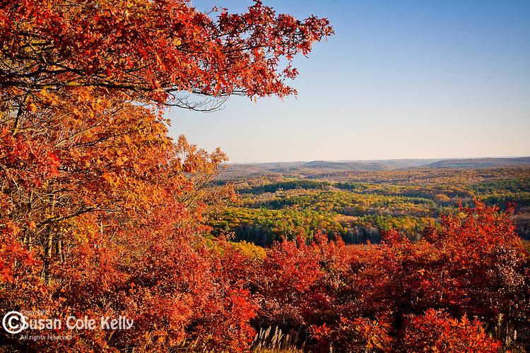 Fall foliage in the Litchfield Hills, CT, USA