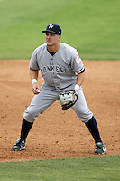 April 15, 2009:  Infielder Matthew Matt Cusick of the Tampa Yankees, Florida State League Class-A affiliate of the New York Yankees, during a game at Space Coast Stadium in Viera, FL.  Photo by:  Mike Janes/Four Seam Images