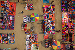 Sellers lay down vibrant blankets at open market  Azim Khan Ronnie