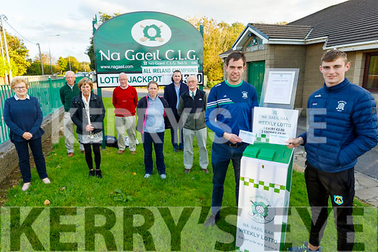 The Na Gaeil GAA club relaunch their lotto on Friday which was inactive due to the Covid pandemic. Front right: Jack Barry and Diarmuid O'Connor. Middle row: l to r: Mary Maunsell, Kathy Carey, Helen Cooper and Pat Carey.<br /> Back row l to r: Donal Lucey, Joe Clifford and Tim Lynch.
