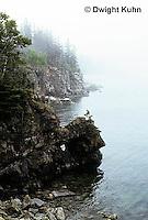 OC02-002z  Acadia National Park, Maine - ocean and rocks