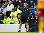 Motherwell v St Johnstone.....16.04.11  Scottish Cup Semi-Final.Stuart McCall shouts instructions.Picture by Graeme Hart..Copyright Perthshire Picture Agency.Tel: 01738 623350  Mobile: 07990 594431
