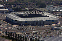 Aerial view of the new Cardiff City FC stadium