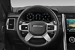 Car pictures of steering wheel view of a 2021 Land Rover Discovery R-Dynamic-HSE 5 Door SUV Steering Wheel