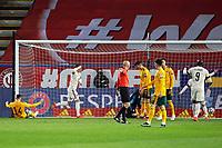 24th March 2021; Leuven, Belgium; Thorgan Hazard of Belgium celebrates scoring a goal during the World Cup Qatar 2022 Qualifiers Match between Belgium and Wales on March 24, 2021 in Leuven, Belgium