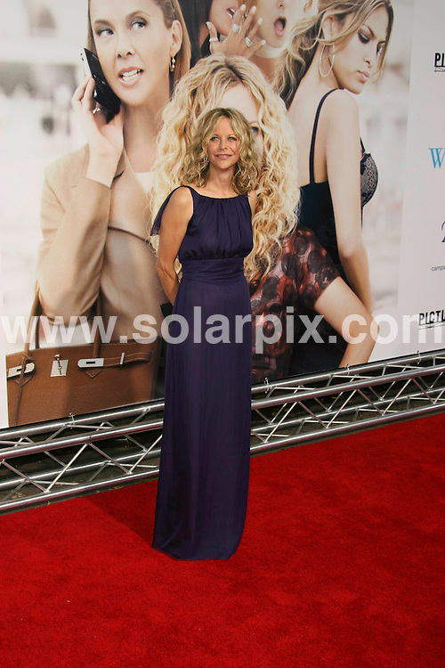 """**ALL ROUND PICTURES FROM SOLARPIX.COM**.**SYNDICATION RIGHTS FOR UK, SPAIN, PORTUGAL, AUSTRALIA, S.AFRICA & DUBAI (U.A.E) ONLY**.Guest arrivals for the premiere of the film """"The Women"""".held at Mann Village Theater, Westwood, Los Angeles, CA, USA. 4th September 2008..This Pic: Meg Ryan..JOB REF: 7223 PHZ (Chris Hatcher)   .DATE: 04_09_2008.**MUST CREDIT SOLARPIX.COM OR DOUBLE FEE WILL BE CHARGED* *UNDER NO CIRCUMSTANCES IS THIS IMAGE TO BE REPRODUCED FOR ANY ONLINE EDITION WITHOUT PRIOR PERMISSION*"""