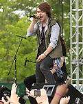 Jordan Mark Witzigreuter of the American rock band The Ready Set performs at Rockford Park in Wilmington, Delaware May 6, 2011..Copyright EML/Rockinexposures.com.