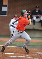 Dave DiNatale of the Miami Hurricanes vs. the Virginia Cavaliers: March 24th, 2007 at Davenport Field in Charlottesville, VA.  Photo by:  Mike Janes/Four Seam Images