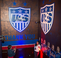 Winnipeg, Canada- June 15, 2015:  US Soccer sponsored fan headquarters at the Commodore Ballroom the night before the last group game of the FIFA Women's World Cup in Vancouver.