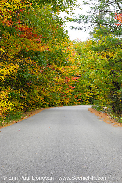 Passaconaway Road during the autumn months in Albany, New Hampshire USA.