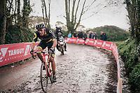 defending race champion Damien Gaudin (FRA/Direct Energie)<br /> <br /> 35th Tro Bro Leon 2018<br /> 1 Day Race: Le Carpont - Lannilis (FRA/203km)
