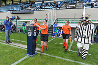 referee Irmgard van Meirvenne taking the matchball before a female soccer game between Eendracht Aalst and Racing Genk on the 10 th and last matchday of play off 2 of the 2020 - 2021 season of Belgian Scooore Womens Super League , Saturday 29 st of May 2021  in Aalst , Belgium . PHOTO SPORTPIX.BE | SPP | STIJN AUDOOREN