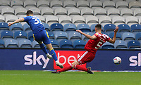Callum Reilly of AFC Wimbledon shot saved by Toby Savin of Accrington Stanley during AFC Wimbledon vs Accrington Stanley, Sky Bet EFL League 1 Football at The Kiyan Prince Foundation Stadium on 3rd October 2020