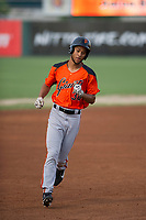 AZL Giants designated hitter Aaron Bond (38) rounds third base after hitting a home run during a game against the AZL Angels on July 9, 2017 at Diablo Stadium in Tempe, Arizona. AZL Giants defeated the AZL Angels 8-4. (Zachary Lucy/Four Seam Images)