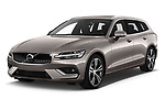 2020 Volvo V60 Inscription 5 Door Wagon angular front stock photos of front three quarter view