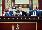 Egyptian President Abdel Fattah al-Sisi, attends the Conference for Cooperation and Partnership in the Iraqi capital, Baghdad on August 28, 2021. Photo by Egyptian President Office