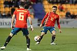 Spain's Manuel Garcia (l) and Oscar Rodriguez during European Under-21 Championship 2021 qualifying round match. November 14,2019.(ALTERPHOTOS/Acero)