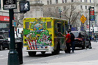 NEW YORK - NEW YORK - MARCH 25: A man stands in front of Weed World Candies truck on March 25, 2021 in New York. New York State reach a deal to legalize recreational marijuana, and open a way for a almost $4.2 billion industry that could create  thousands of jobs.. (Photo by Emaz/VIEWpress)